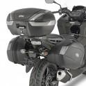 Jgo. Soportes / Herrajes baul central Givi Honda Integra 750 2016- para baules monolock y monokey