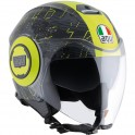 Casco Agv Fluid Top Rossi Ibiscus