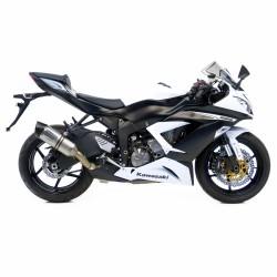 Silencioso Leovince Kawasaki Zx-6r 2009 - 2017 Lv-One II Slip-On Evo 2 carbono