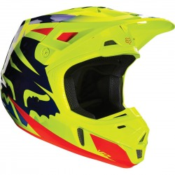 CASCO FOX V2 RACE 2016 AZUL / AMARILLO