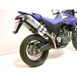 JGO. 2 Silenciosos traseros Leovince X3 Yamaha XT 660 R y X ovalados aluminio homologados
