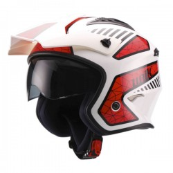 Casco Unik Ct-07 Spider blanco / rojo -