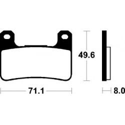 Jgo. Pastillas de freno Brembo sinterizadas racing delanteras Kawasaki / Suzuki -