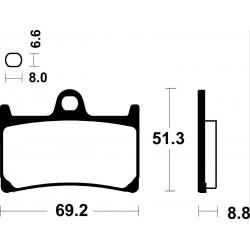 Jgo. Pastillas de freno Brembo sinterizadas racing Yamaha delanteras -