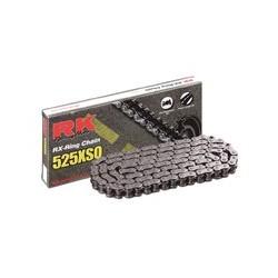 Cadena abierta con retenes Rk Xso 112 eslabones negra