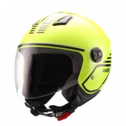 Casco Unik Cj-16 Mode amarillo fluor / negro -