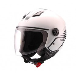 Casco Unik Cj-16 Mode blanco / negro -