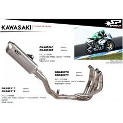 Sistema completo de escape Spark Kawasaki Zx-6r 2009 - 2014 con silencioso Carbono