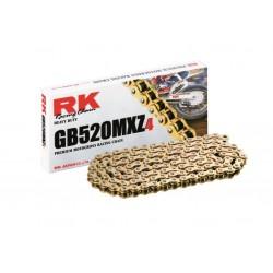 Cadena abierta Rk Gb520mxz4 136 eslabones color oro