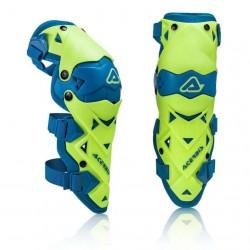 Jgo. Rodilleras Acerbis Impact Evo 3.0 Knee Guard Amarillo / Azul -