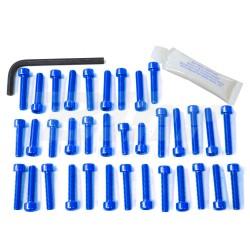 Kit tornillería carenado aluminio Pro-Bolt EYA235B Azul *