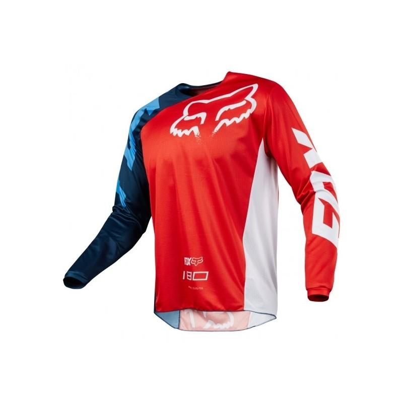 989752e29765e CAMISETA FOX 180 2018 RACE ROJA - - Punto Moto La Carlota