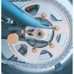 Tuerca de corona 10mm x 1,25 (6 pack) Aluminio oro Pro-Bolt SPN10G *