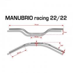 MANILLAR BARRACUDA RACING 22MM. ALUMINIO