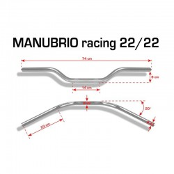 MANILLAR BARRACUDA RACING 22MM. ALUMINIO *