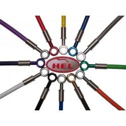 JGO. LATIGUILLOS METALICOS DELANTEROS Y TRASEROS HEL HONDA CB 600 F HORNET 2007 - 2008