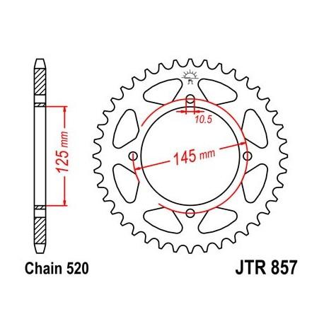 Corona De Arrastre / Plaro JT Sprockets Muz, Yamaha 45 Dientes Acero Negro