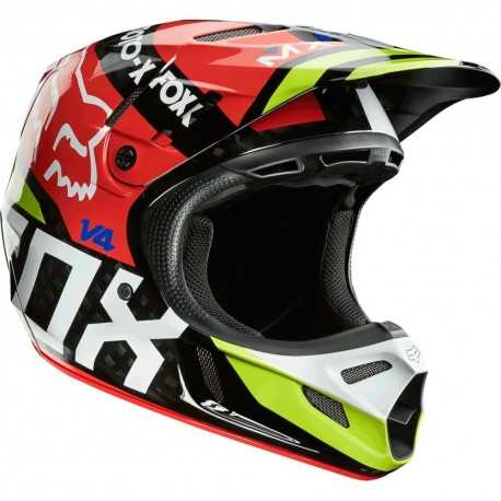 Casco Fox V4 Intake 2014 Negro / Rojo
