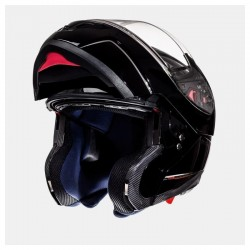 CASCO MT ATOM SV NEGRO BRILLO -