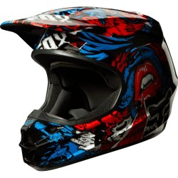 Casco Fox Infantil V1 Creepin 2014 Azul