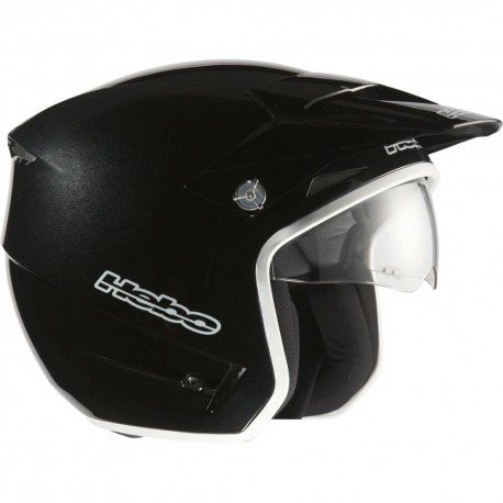 CASCO HEBO ZONE-03 NEGRO BRILLO