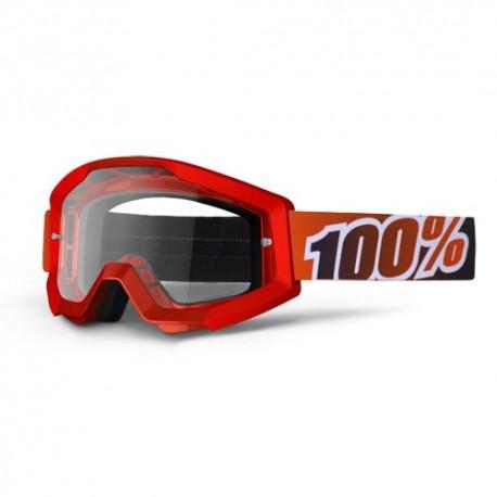Gafas MX 100% Strata Motofire Rojo