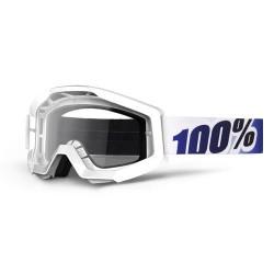 Gafas MX 100% Strata Motoice Blanco