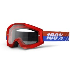 Gafas MX 100% Strata Motoboss Rojo