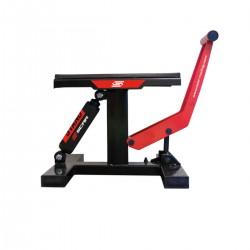 Caballete elevador central universal con amortiguador hidraulico motos de cross y enduro hasta 150 kilos Scar negro / rojo