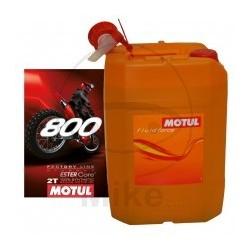 20L. Aceite Motul 800 2T Factory Line Off Road Sintetico