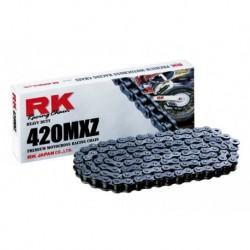 Cadena abierta sin retenes RK 420 MXZ con 118 eslabones negra *