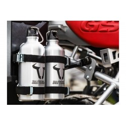 KIT 2 BOTELLAS 0,6L. SW-MOTECH SIN SOPORTE ACERO INOXIDABLE PLATA