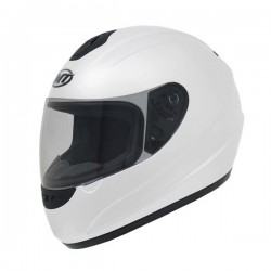 CASCO MT THUNDER SOLID BLANCO BRILLO