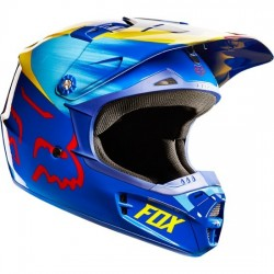 CASCO FOX INFANTIL V1 VANDAL JUNIOR 2015 AMARILLO / AZUL