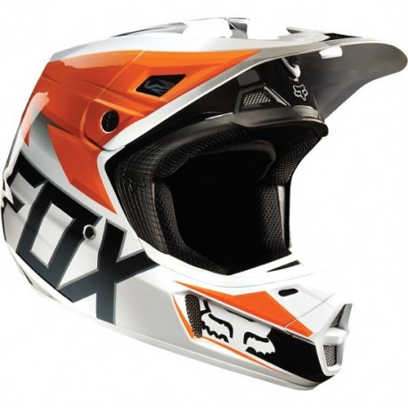 CASCO FOX V2 RACE 2015 NARANJA
