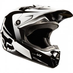 CASCO FOX INFANTIL V1 IMPERIAL 2015 JUNIOR NEGRO / BLANCO