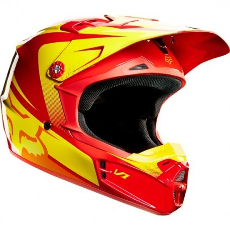CASCO FOX INFANTIL V1 IMPERIAL 2015 JUNIOR ROJO / AMARILLO