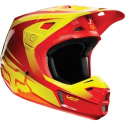 CASCO FOX V2 IMPERIAL 2015 ROJO / AMARILLO