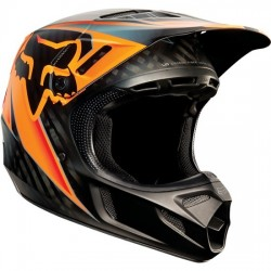 CASCO FOX V4 RACE 2015 NEGRO / NARANJA