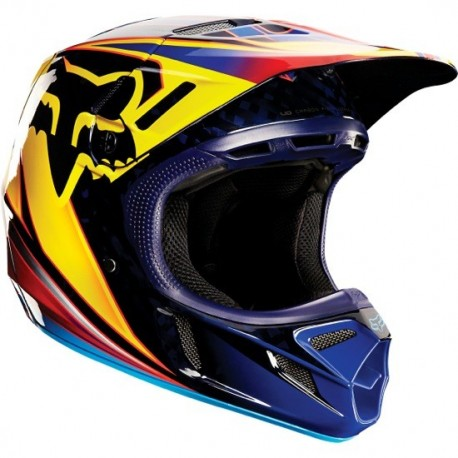 CASCO FOX V4 RACE 2015 NARANJA