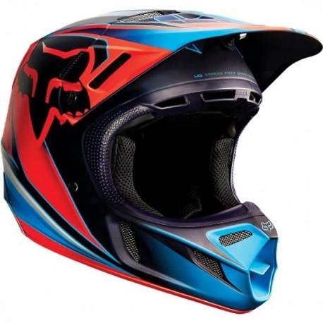 CASCO FOX V4 RACE 2015 ROJO