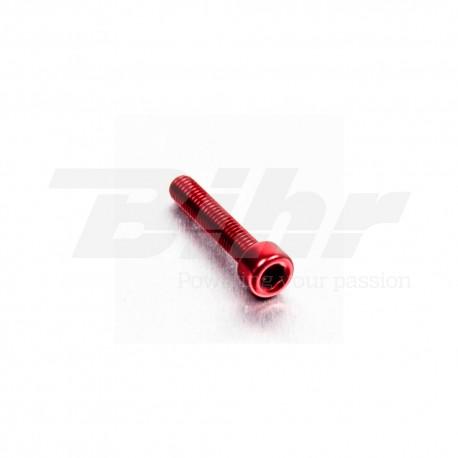 Tornillo de Aluminio Pro-bolt cabeza cilíndrica M5 x (0.8mm) x 25mm rojo LPB525R