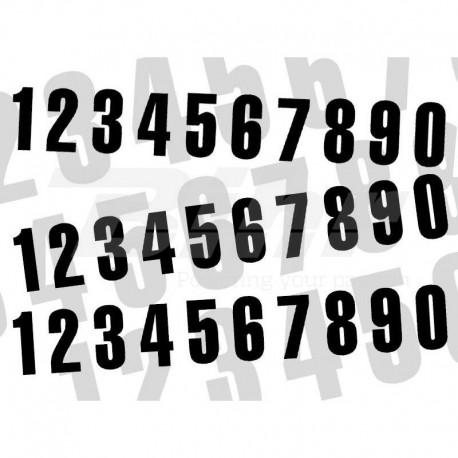 Numero de carrera 8 para caballete ART 10x5cm