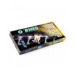 Cadena abierta con retenes Iris 520 120 eslabones color negra