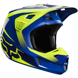 CASCO FOX V2 IMPERIAL 2015 AZUL / AMARILLO