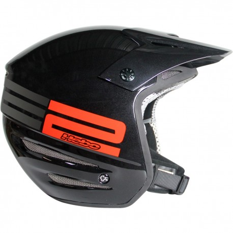 CASCO HEBO ZONE TWO NEGRO BRILLO
