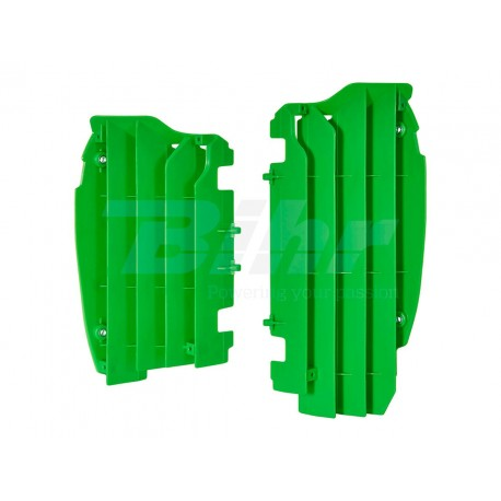 Aletines de radiador Polisport Kawasaki verde 8456000002