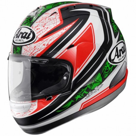 Casco Arai RX-7 GP Hayden Green