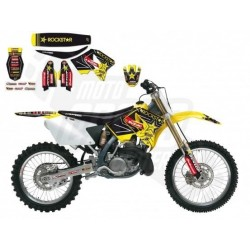 KIT DE ADHESIVOS BLACKBIRD RACING SUZUKI RM 125 / 250 2001 - 2015 REPLICA TEAM SUZUKI ROCKSTAR ENERGY VAMO 2013