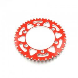 Corona De Arrastre / Plato Acero Esjot HM-Moto / Honda 50 Dientes aluminio roja